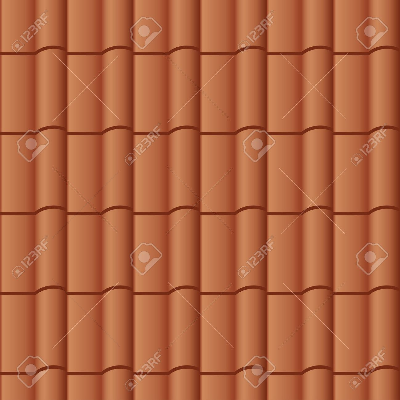 Vector Roof Tile Seamless Background Royalty Free Cliparts.
