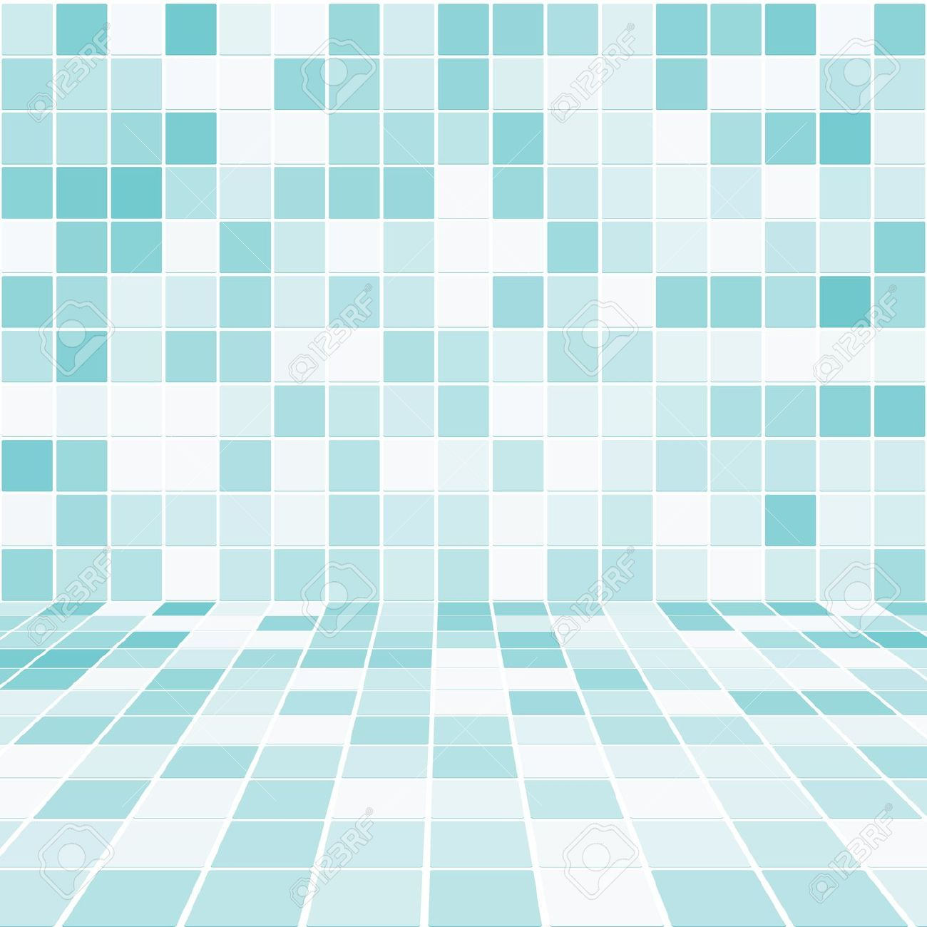 Mosaic bathroom clipart.
