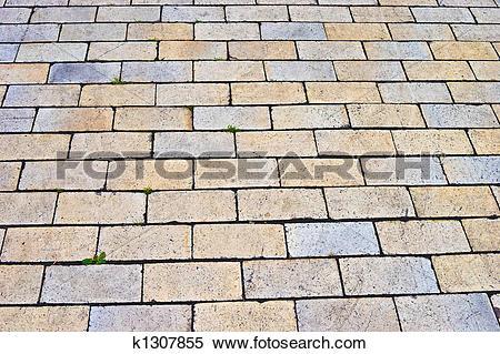 Stock Image of Tiled road k1307855.