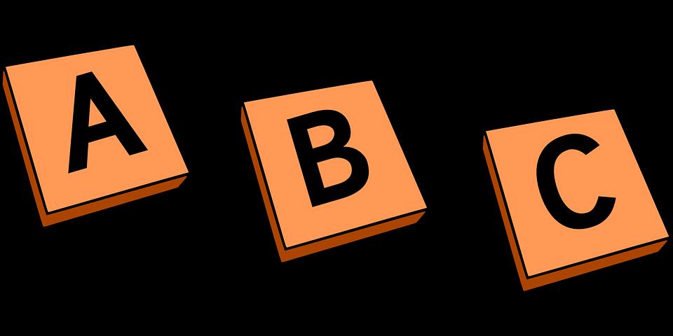 Letter tiles clipart.