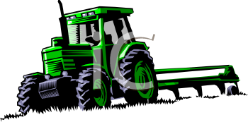 Realistic Tractor Pulling a Tiller Blade.