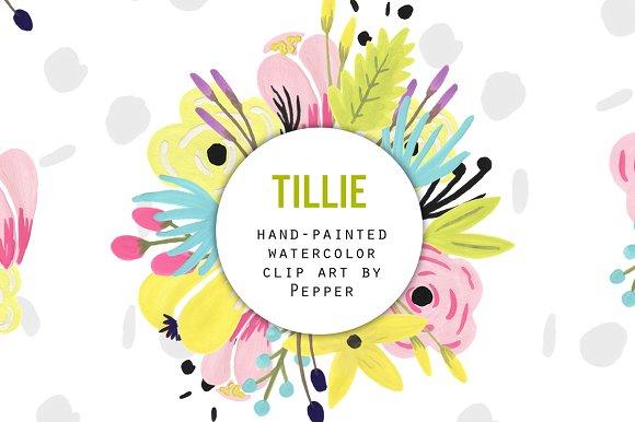 Pastel Watercolor Flowers Clip Art ~ Illustrations on Creative Market.
