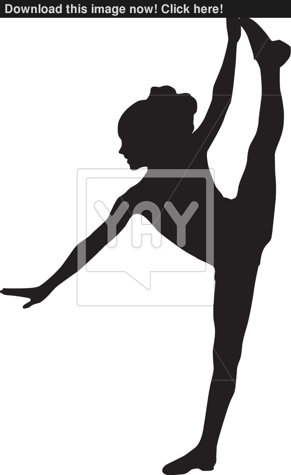 Dancer clipart silhouette tilt.
