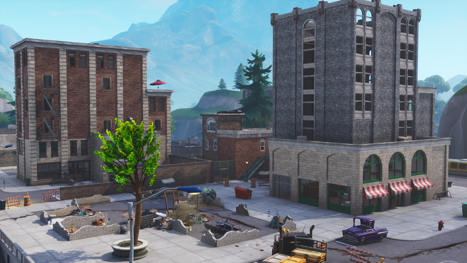 Fortnite Tilted Towers Background Png.