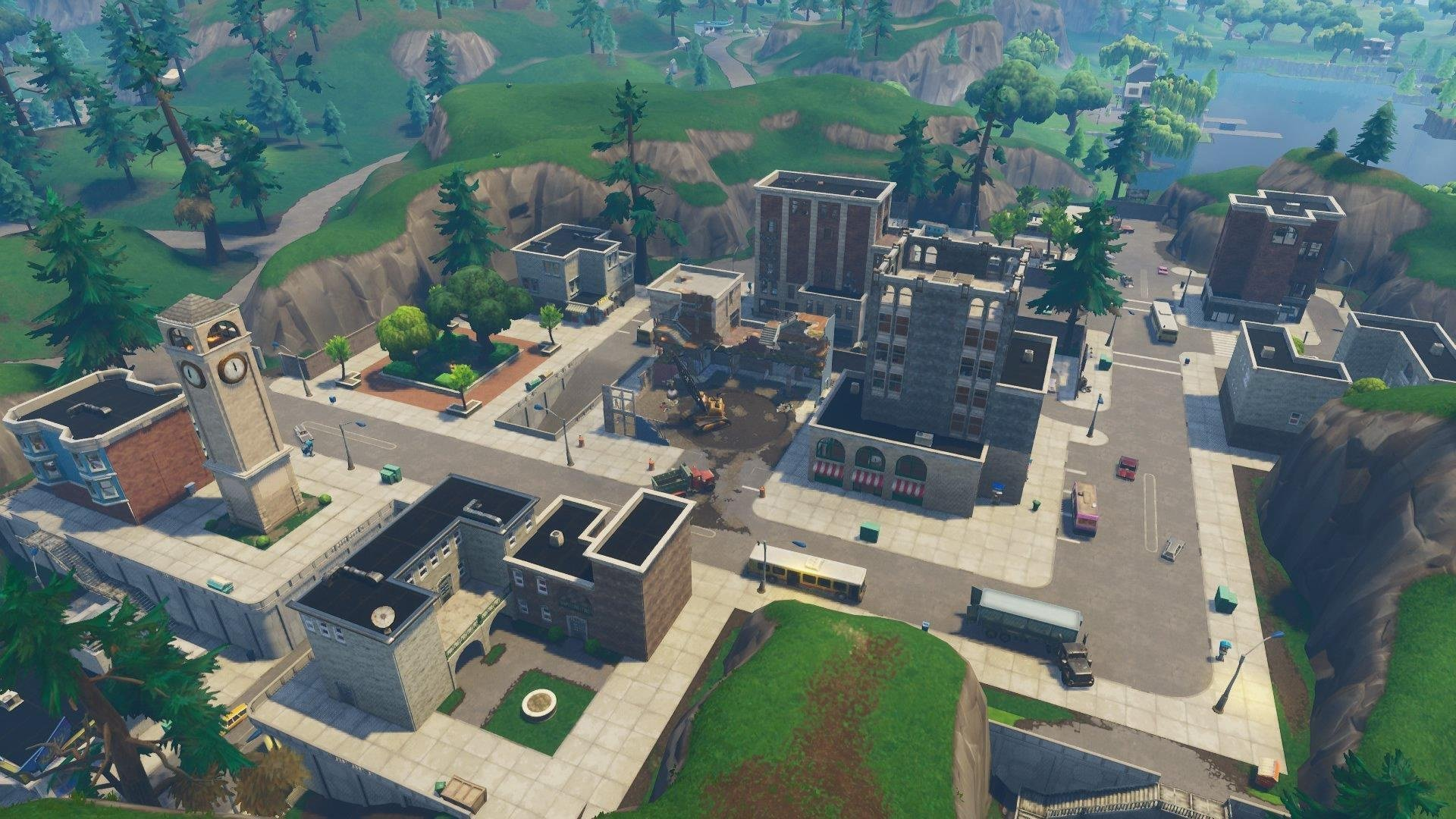 Fortnite Background Png Tilted Towers.
