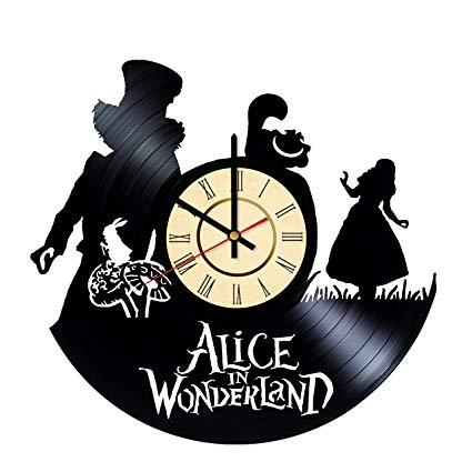 Amazon.com: Alice in Wonderland Vinyl Clock Gift for Tim.