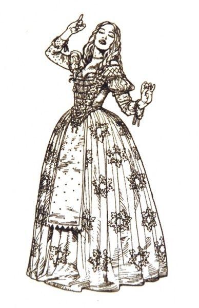 Tim Burton\'s Alice in Wonderland Concept Art for Mirana, the.