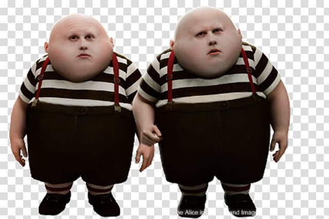 Tim Burton Tweedledum Alice in Wonderland Tweedledee White.