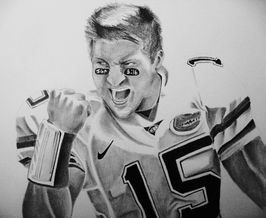 Tim Tebow Drawing Picture.