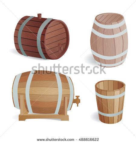 Wood Barrel Stock Photos, Royalty.