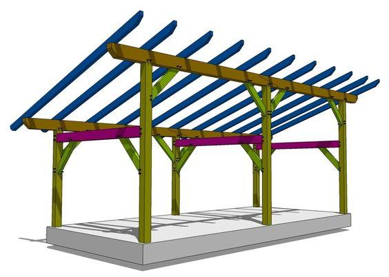 14×30 Timber Frame Shed.