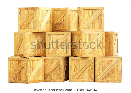 Old Wooden Box Isolated On White Stock Photo 146985539.