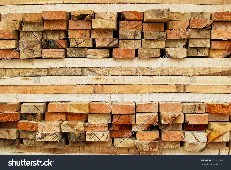 Stack Lumber Timber Logs Storage Construction Stock Photo 67162501.
