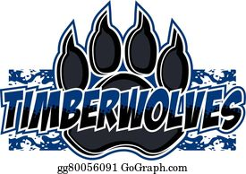 Timber Wolf Clip Art.