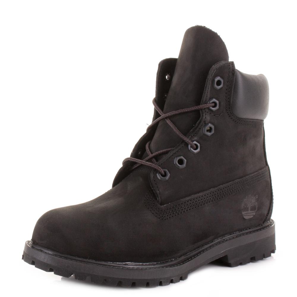 Black Timberland Boots.