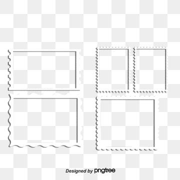 Les Timbres De Bordure PNG Images.