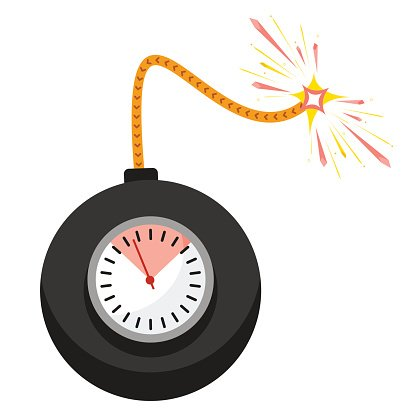 Vector Time Bomb premium clipart.