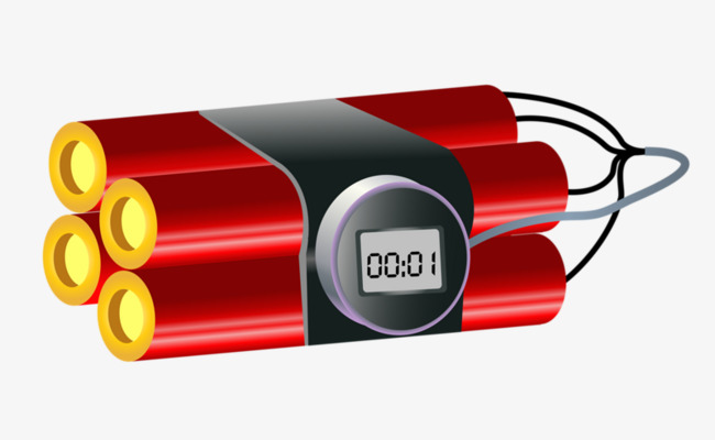 Time Bomb, Bomb Clipart, Red PNG Image A #40592.