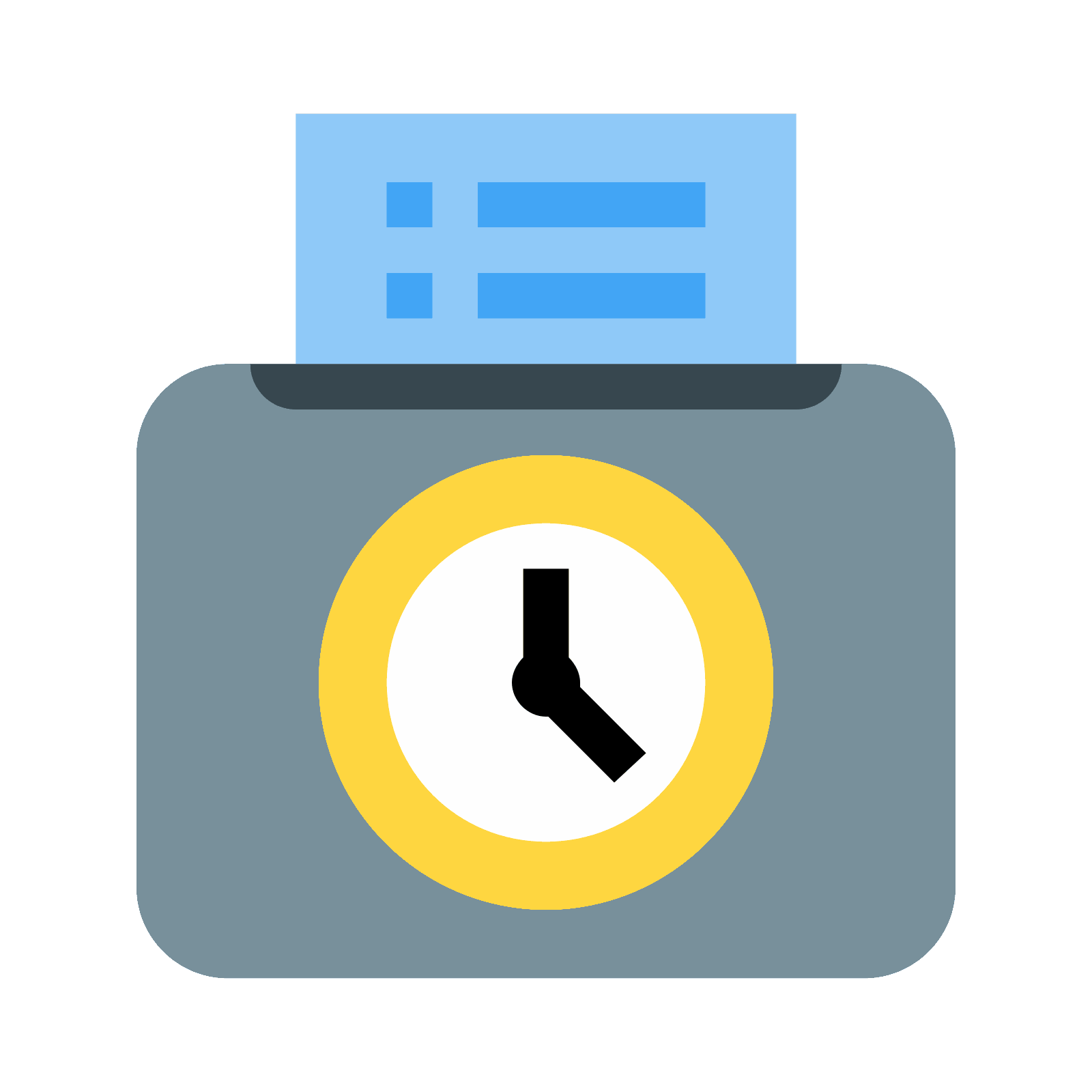 Time Card Icon #161156.