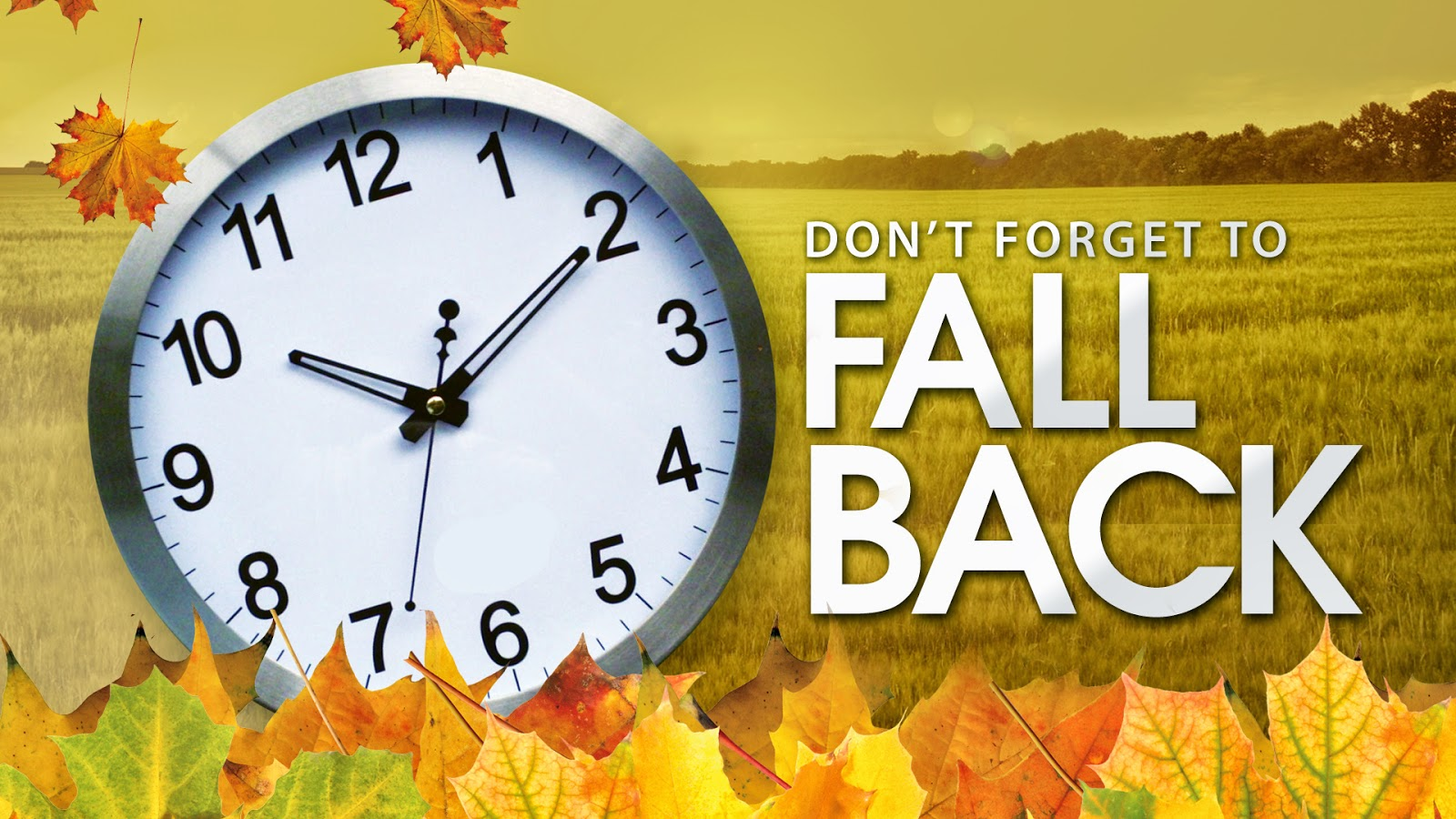 Time Change Fall 2016 Clipart.