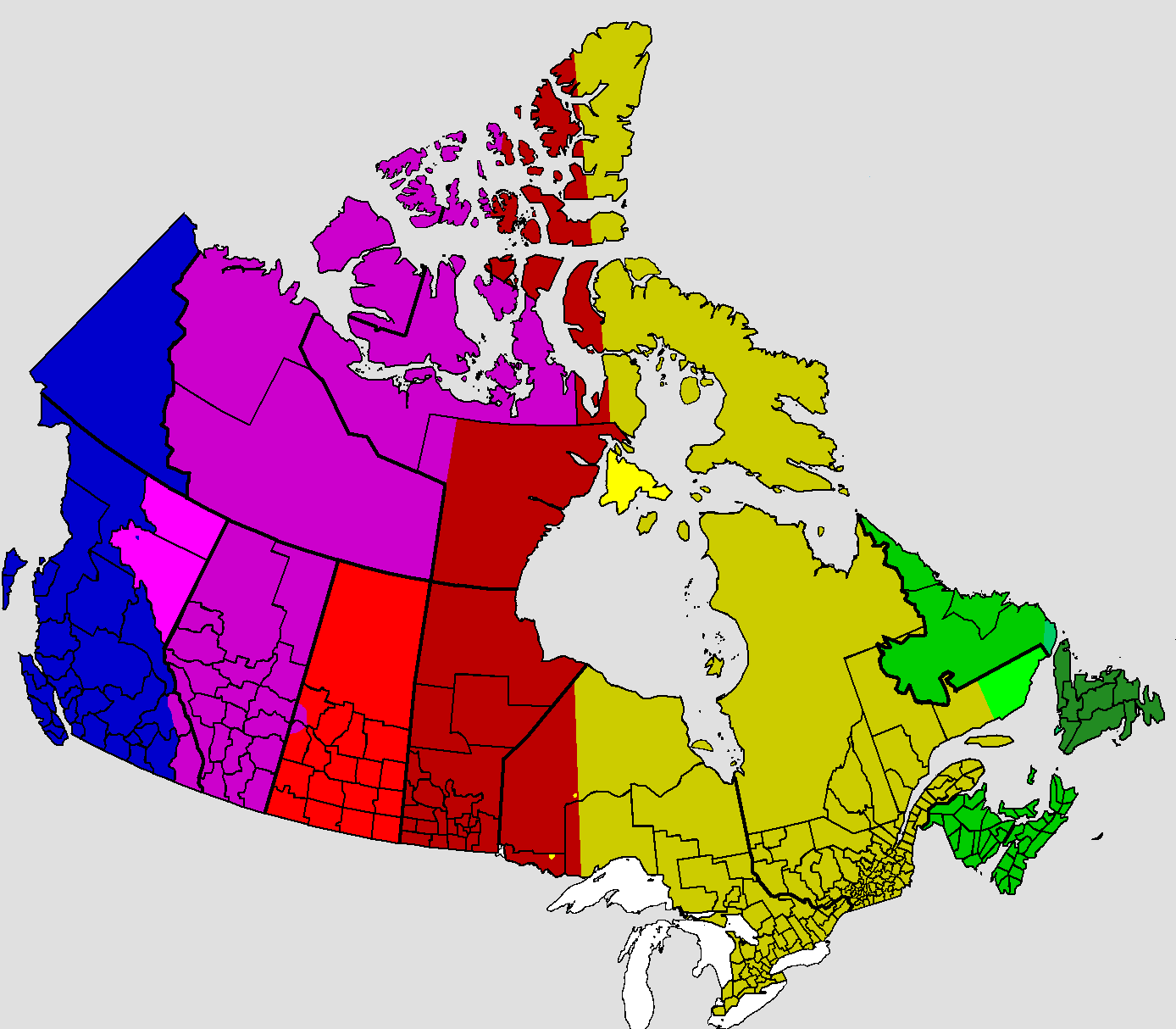 Time in Canada.