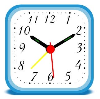 Time clock clip art.