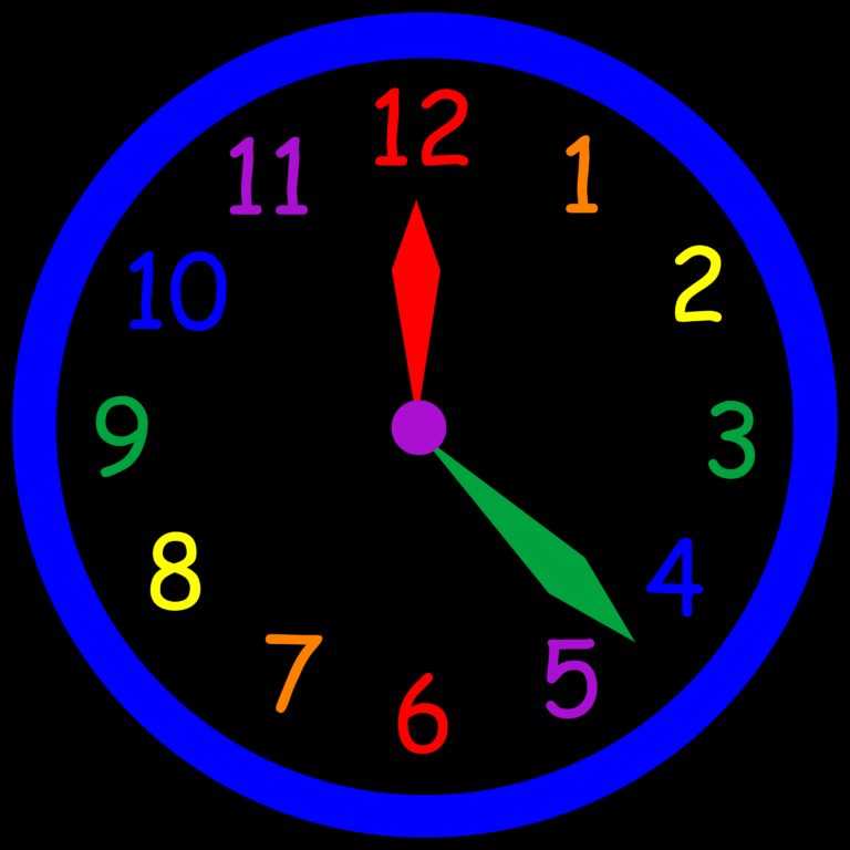 Cool Time Clock Clipart.