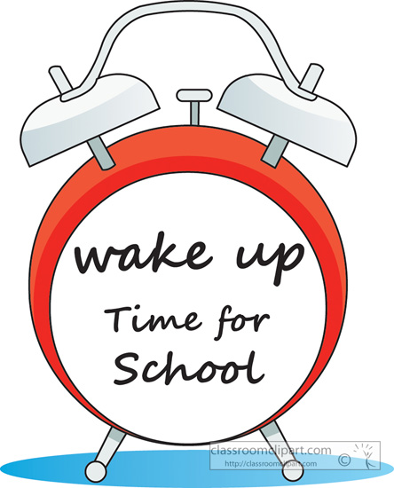 Waking Up For School Clipart.