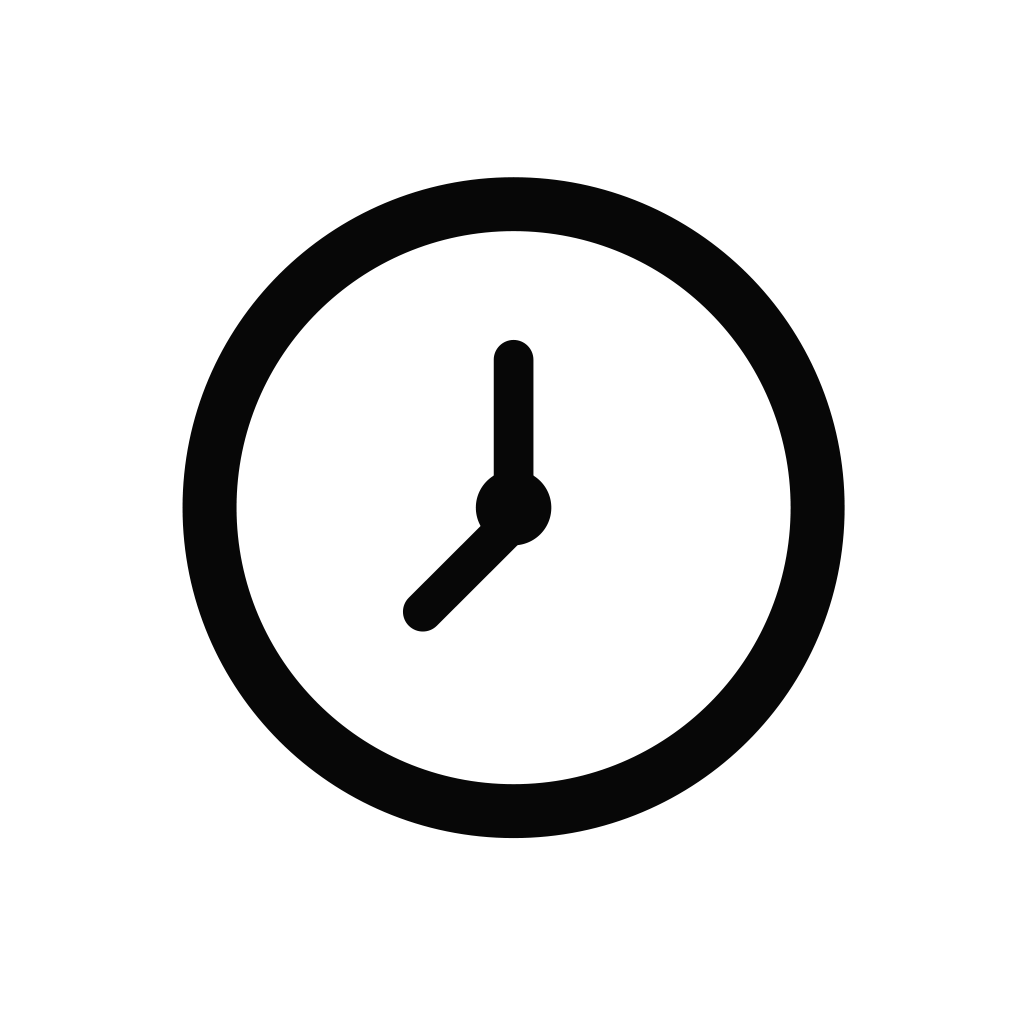 Clock, time icon.