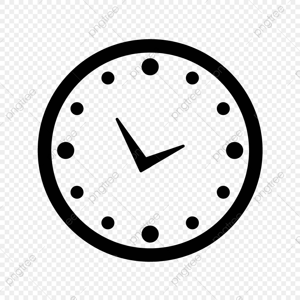 Vector Clock Icon, Clock, Time, Date PNG and Vector with.