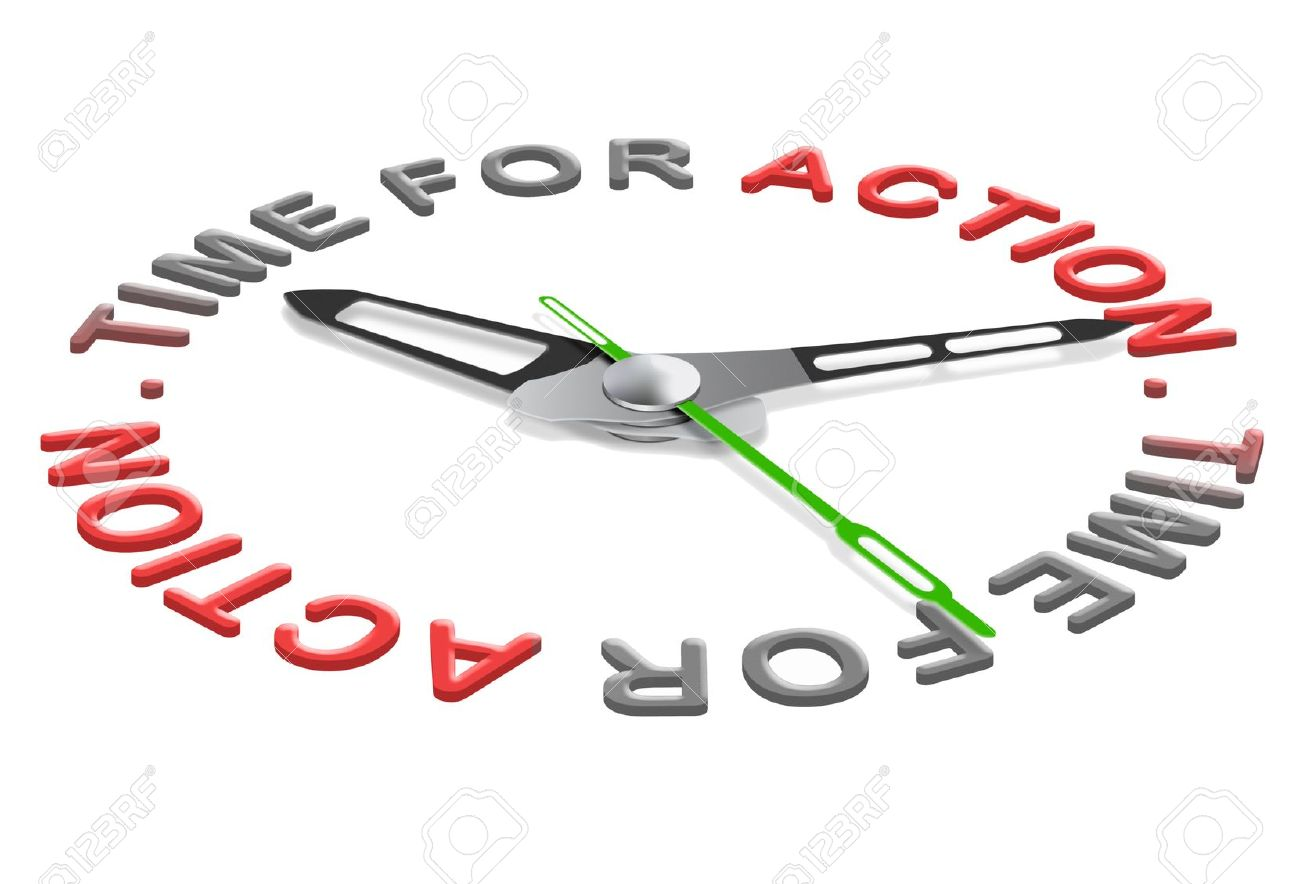 Action Time Start Business Or Sport Clock Indicating Moment For.