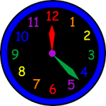 Clock Time Clock Abstract Time Indicating Time Of Open Time Clock.
