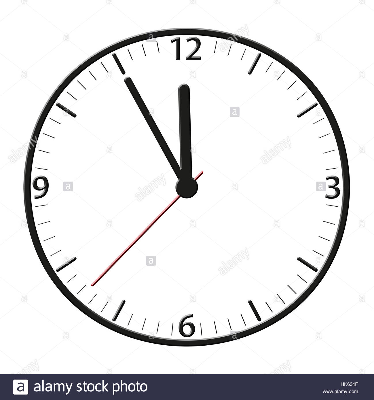 Clock, Date, Time, Time Indication, Seconds, Minutes, Hours, Hour.