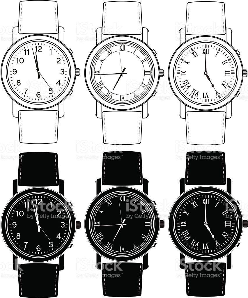 Hand Watch Time Indication stock vector art 521304420.