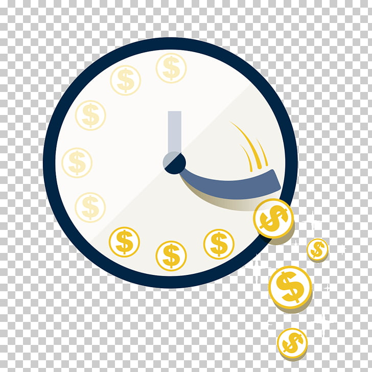 Money Time Flat design Business, time is money PNG clipart.