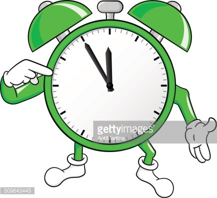 time is running out fast Clipart Image.