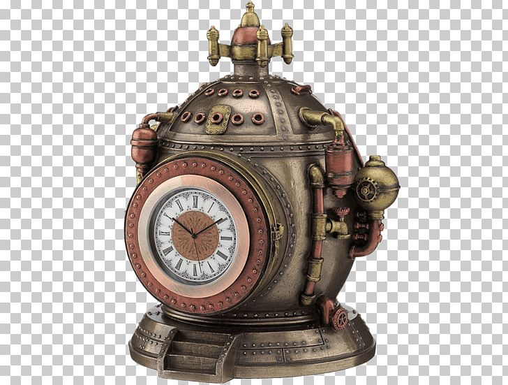 The Time Machine Steampunk Time Travel Statue Fantasy PNG.