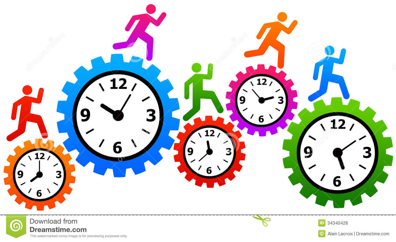 Student time management clipart.
