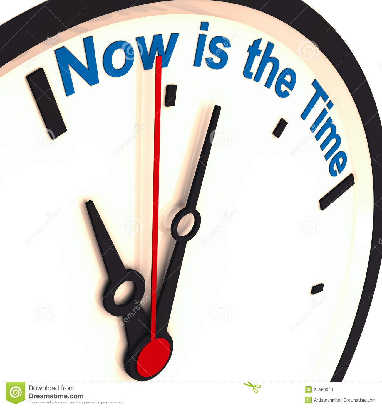 The Time Is Now Clipart.