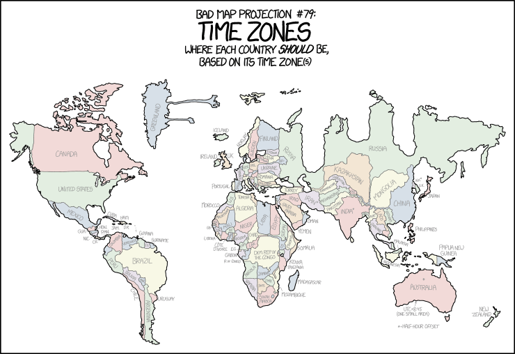 1799: Bad Map Projection: Time Zones.