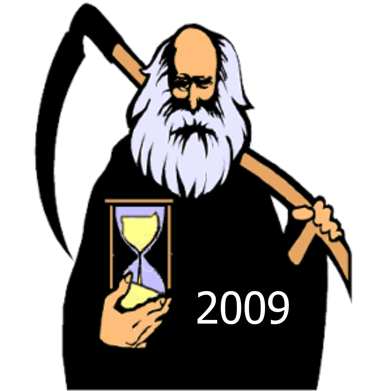 Father time and baby new year clipart.