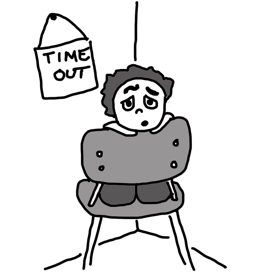 Kid in timeout clipart.