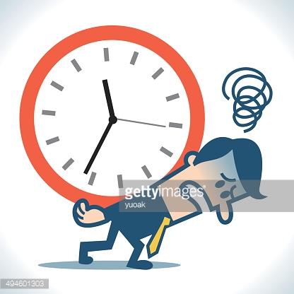 Time Pressure Vector Art.