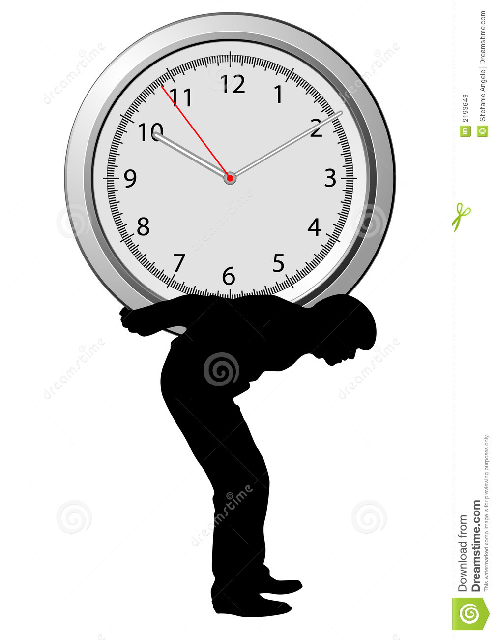 Under Time Pressure Royalty Free Stock Images.