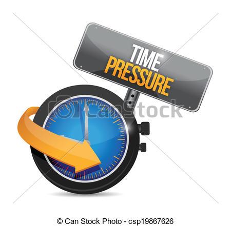Vector Illustration of time pressure illustration design over a.