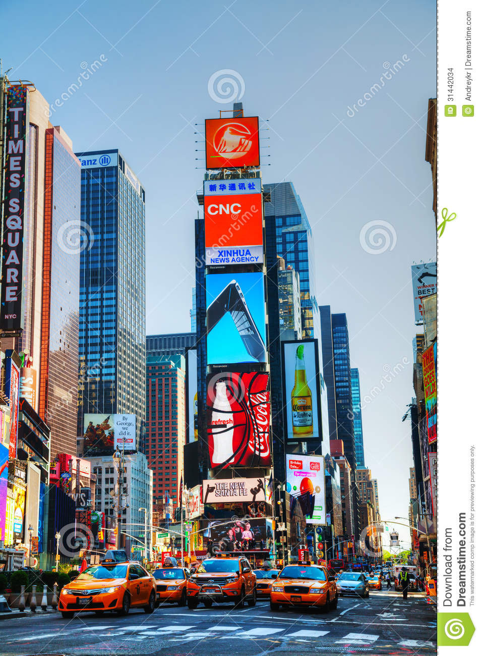 Times Square In New York City Editorial Stock Image.