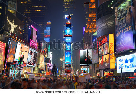 Times Square Stock Photos, Royalty.