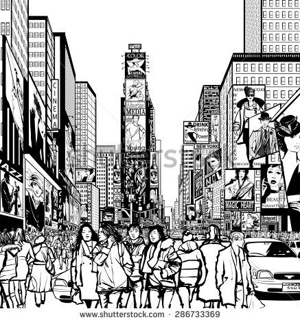 21+ Times Square Clip Art.