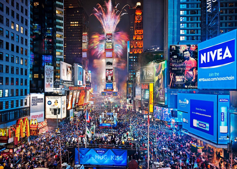 Time Square Ball Drop Clip Art.
