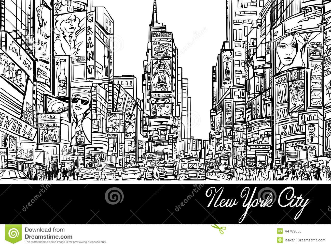 Times square clip art.